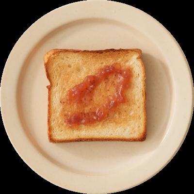 バターやクリームチーズを塗った食パン